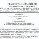 Pengumuman Hasil Uji Kompetensi Pengisian JPT Pratama