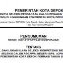 Pengumuman Jadwal dan Lokasi Ujian SKB Seleksi CPNS Kota Depok Formasi Tahun 2019