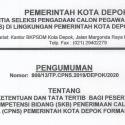 Ketentuan dan Tata Tertib Bagi Peserta SKB Penerimaan CPNS Kota Depok Formasi Tahun 2019
