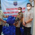Penyerahan Bantuan Produk UMKM dan Sembako untuk Warga Isoman Covid-19 di wilayah Kecamatan Cilodong